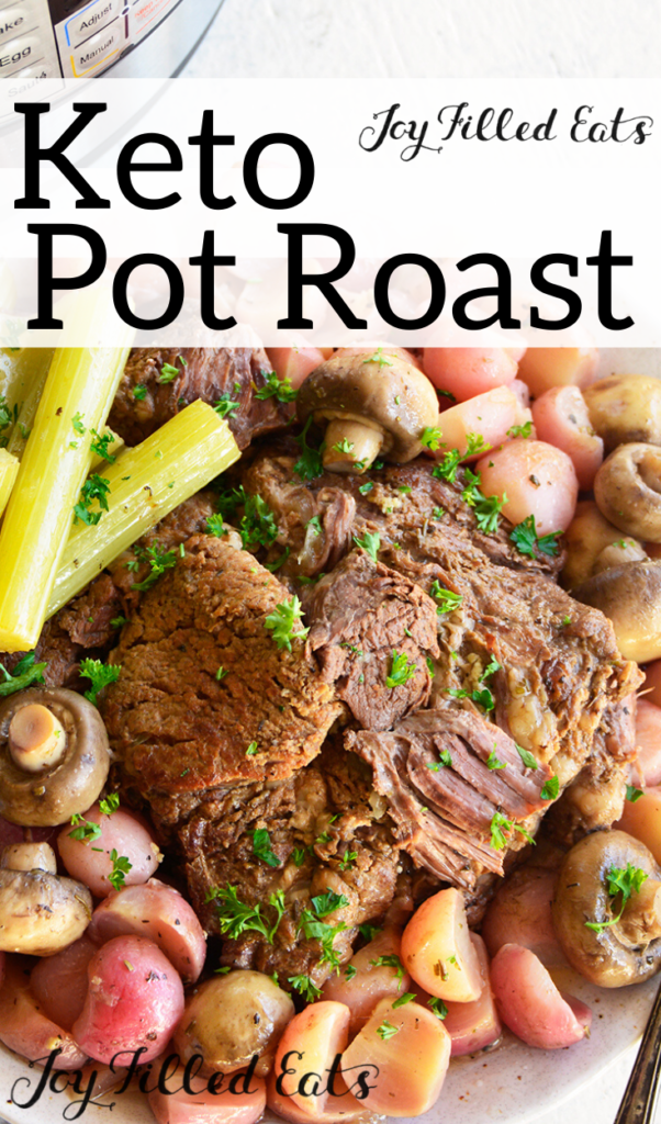 pinterest image for instant pot keto pot roast