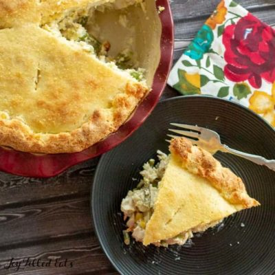 Turkey Pot Pie – Low Carb, Keto, Gluten-Free