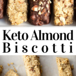 pinterest image for almond biscotti cookies