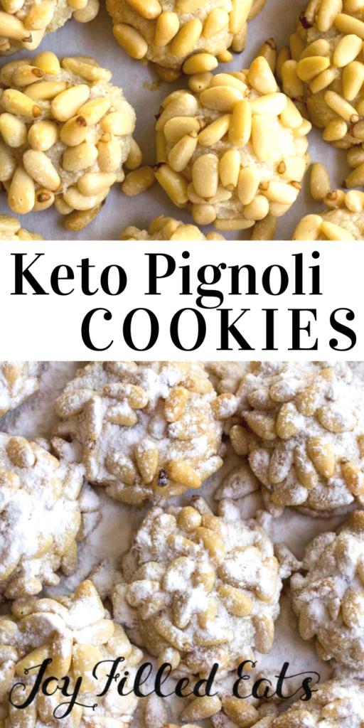 pinterest image for pignoli cookies
