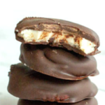 pinterest image for homemade peppermint patties