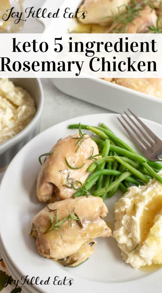 pinterest image for baked rosemary chicken