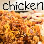pinterest image for keto bbq chicken