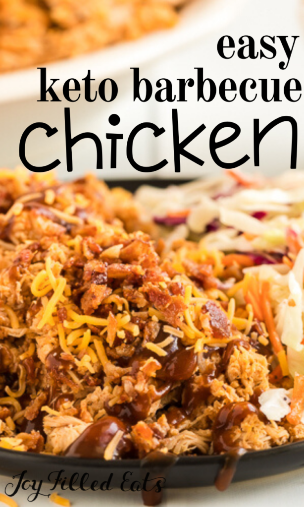 pinterest image for keto bbq chicken