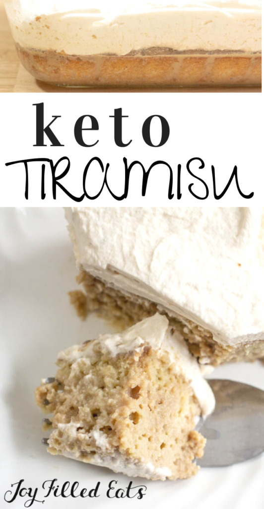 pinterest image for keto tiramisu cake