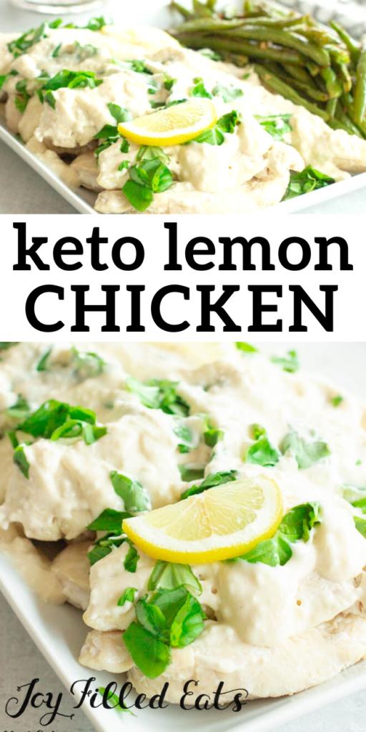pinterest image for keto lemon chicken