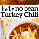 pinterest image for instant pot turkey chili