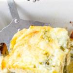 pinterest image for baked pesto chicken