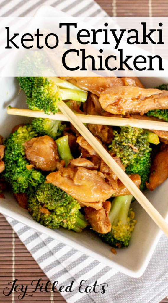 pinterest image for keto teriyaki chicken