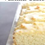pinterest image for keto vanilla cake
