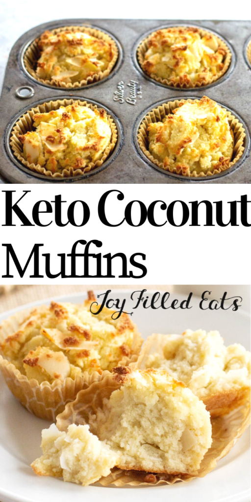 pinterest image for keto coconut flour muffins