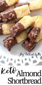 pinterest image for keto almond shortbread cookies