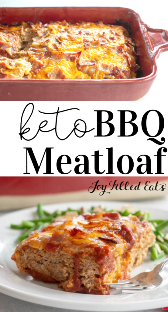 pinterest image for bbq meatloaf