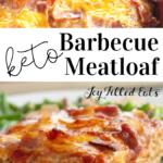 pinterest image for bbq meatloaf