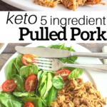 pinterest image for keto pulled pork