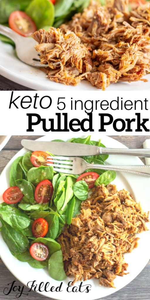 pinterest image for keto pulled pork