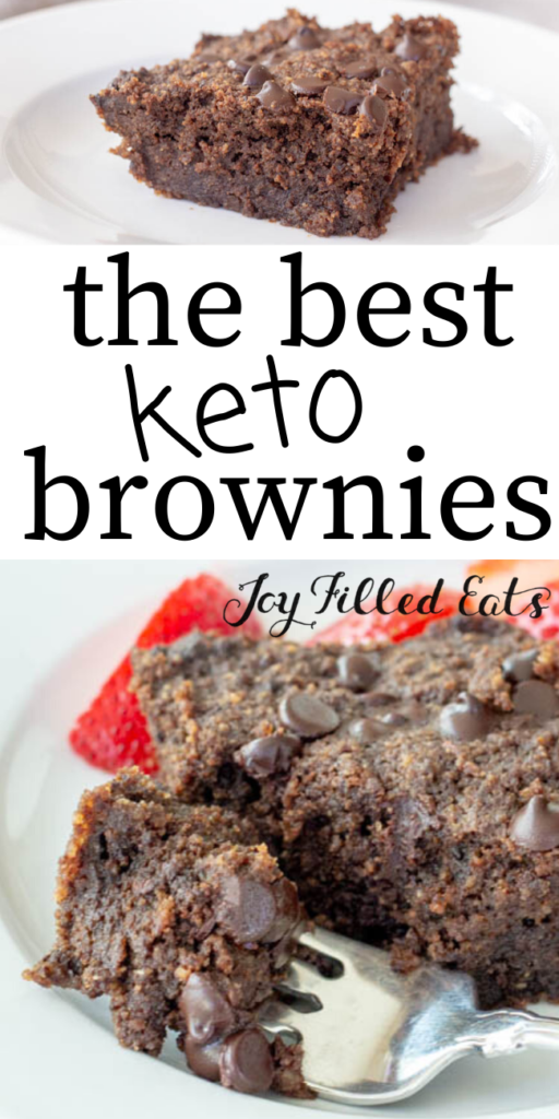 pinterest image for keto brownies
