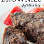 pinterest image for keto brownies