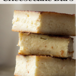 pinterest image for sopapilla cheesecake bars