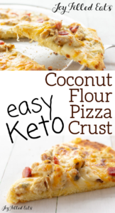 pinterest image for keto coconut flour pizza crust