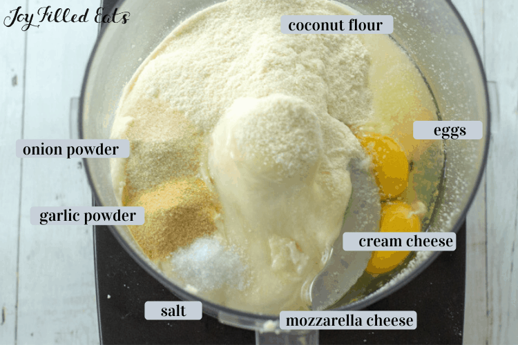 ingredients for the Coconut Flour Pizza Crust
