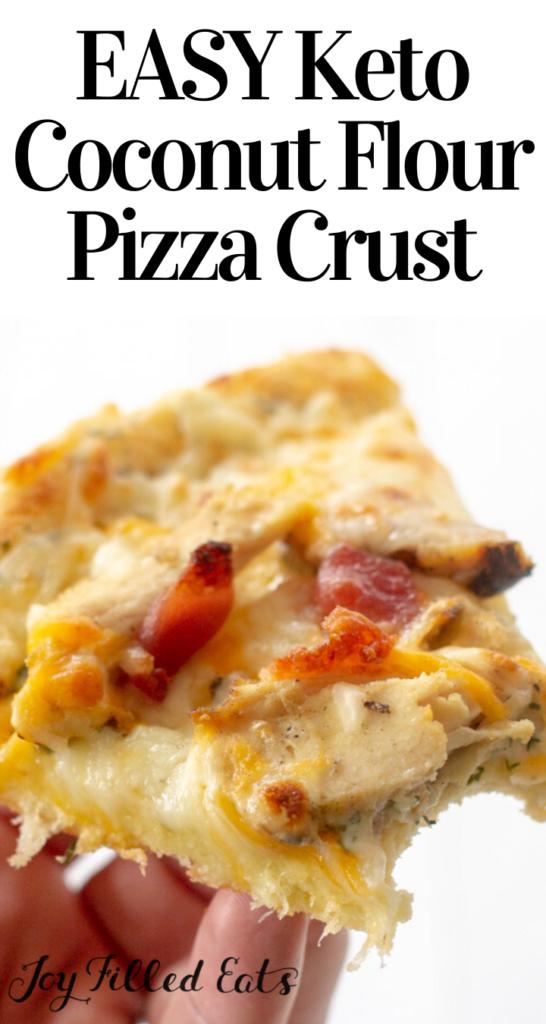 pinterest image for keto coconut flour pizza crust