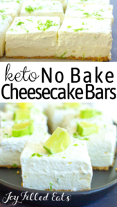 pinterest image for keto no bake cheesecake
