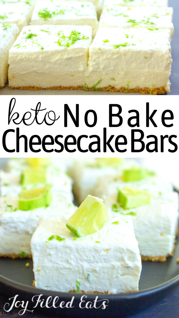 pinterest image for keto no bake cheesecake