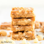 stack of caramel cookie bars