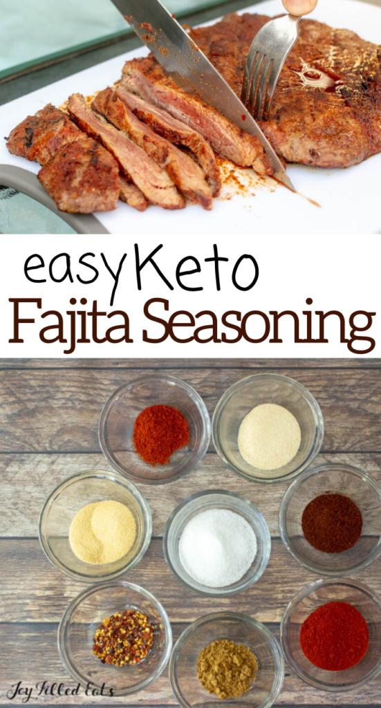 pinterest image for keto fajita seasoning