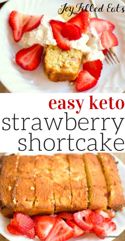 pinterest image for keto pound cake strawberry shortcake
