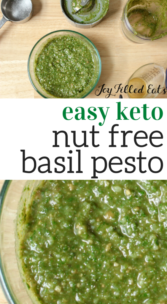 pinterest image for nut free pesto