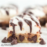 keto smores bars with chocolate chips