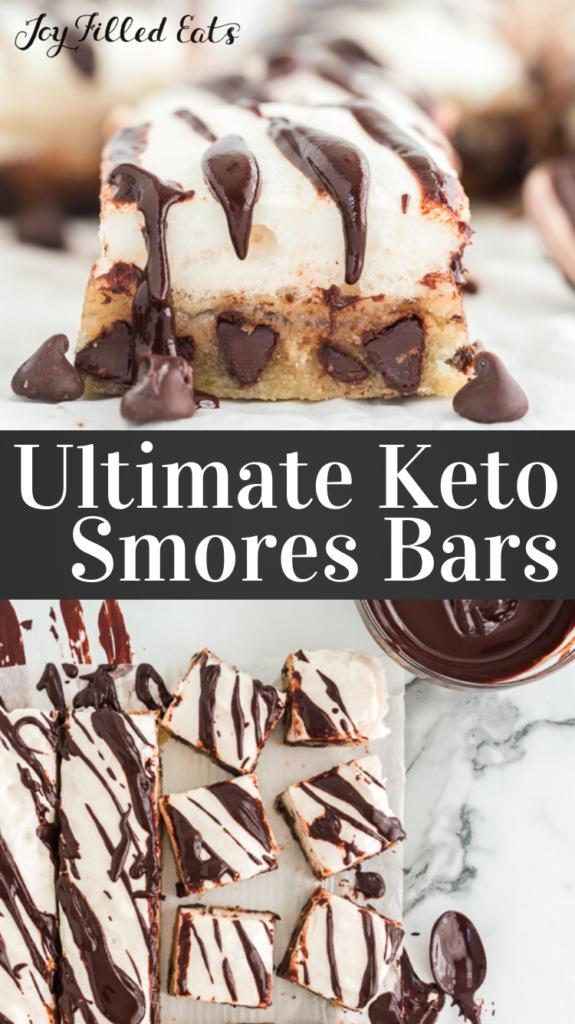 pinterest image for keto smores bars