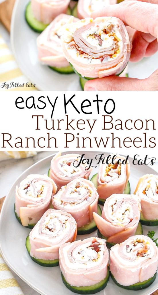 pinterest image for turkey bacon ranch pinwheels