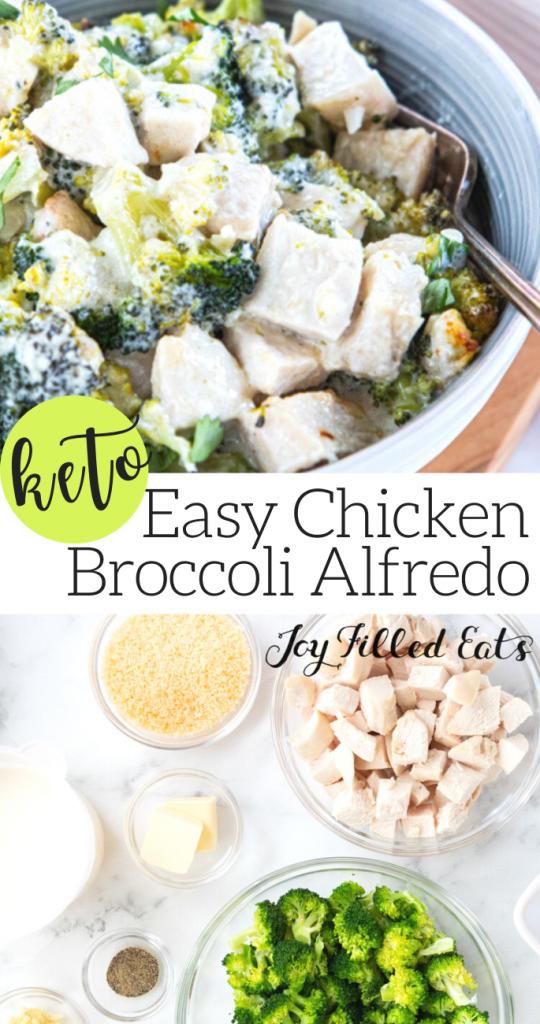 pinterest image for keto chicken broccoli alfredo