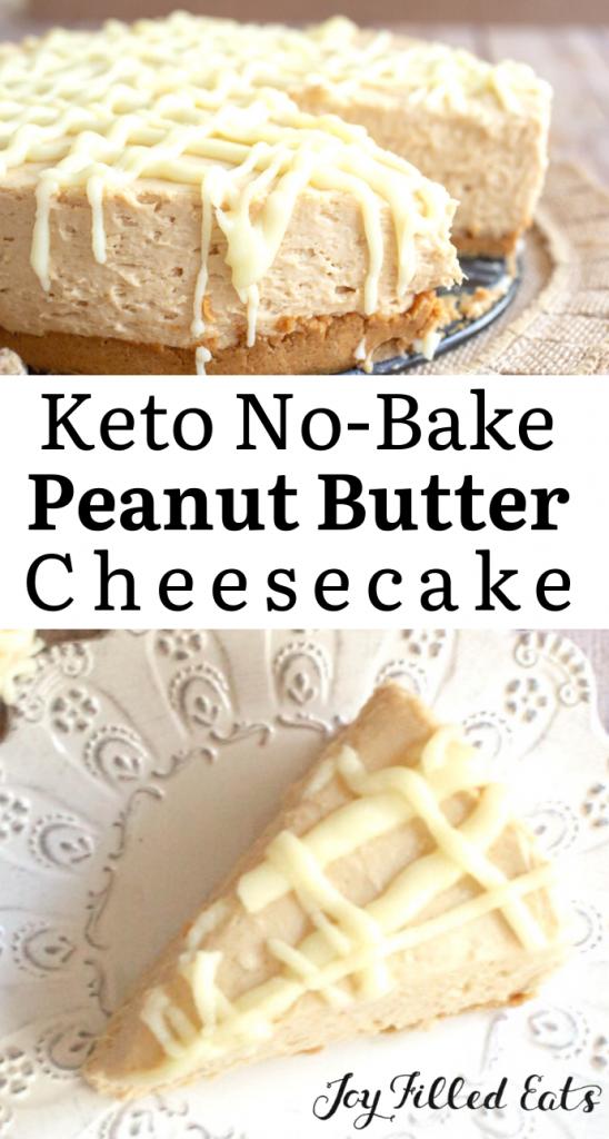 pinterest image for Keto Peanut Butter Cheesecake