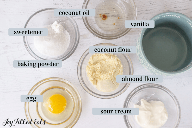 individual ingredients in small bowls