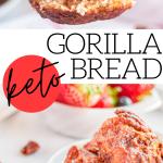 pinterest image for gorilla bread