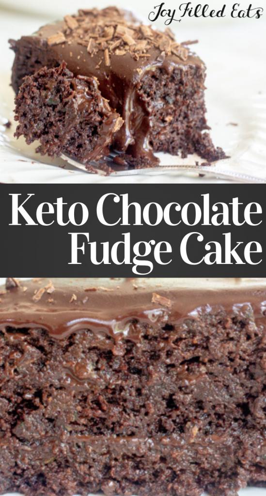pinterest image for keto chocolate cake