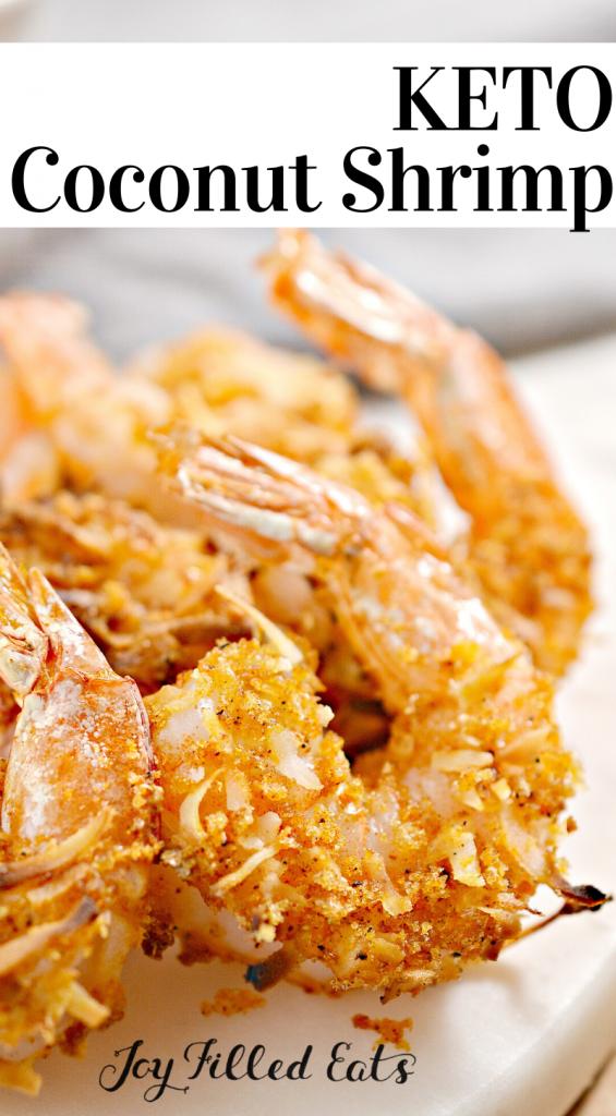 pinterest image for keto coconut shrimp