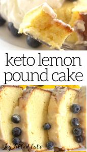 pinterest image for keto lemon pound cake