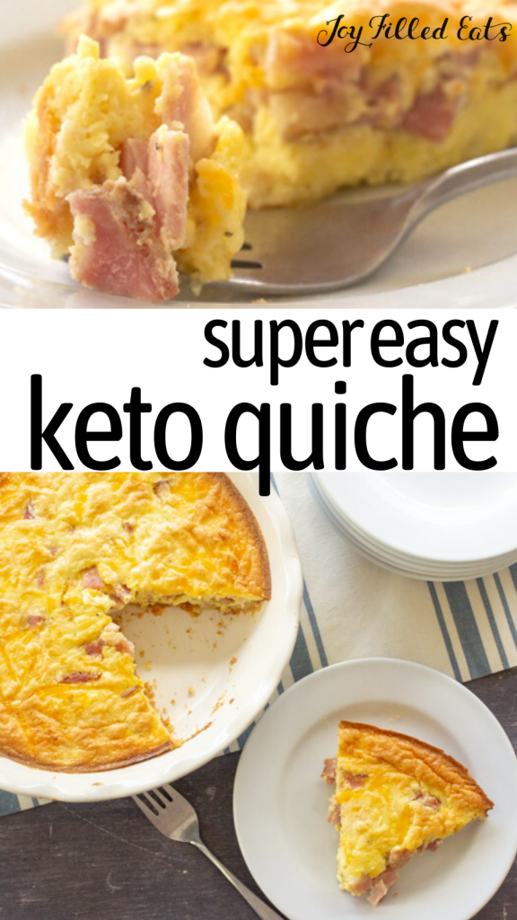 pinterest image for keto quiche