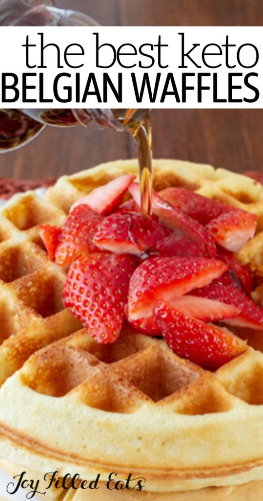 pinterest image for keto waffles