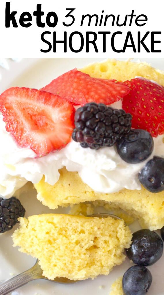 pinterest image for keto vanilla mug cake