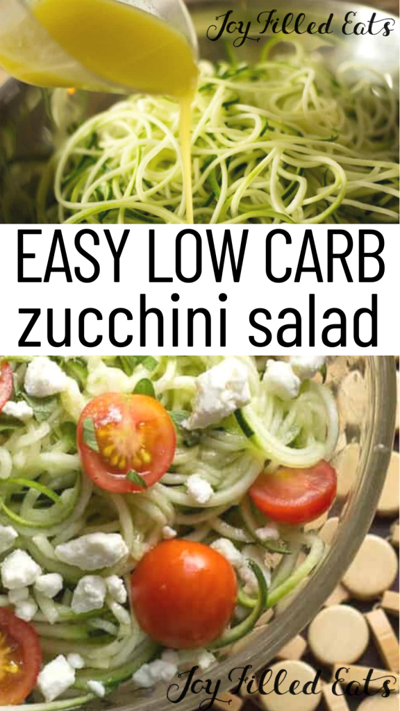 pinterest image for zucchini salad