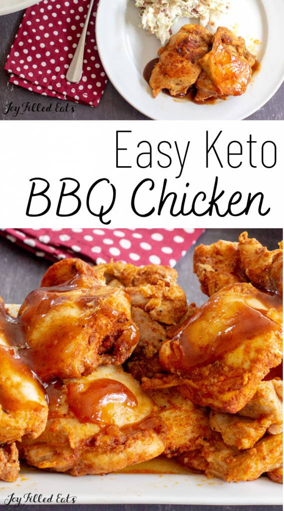 pinterest image for instant pot barbecue chicken
