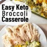 pinterest image for keto broccoli casserole