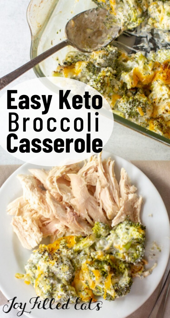pinterest image for keto broccoli casserole