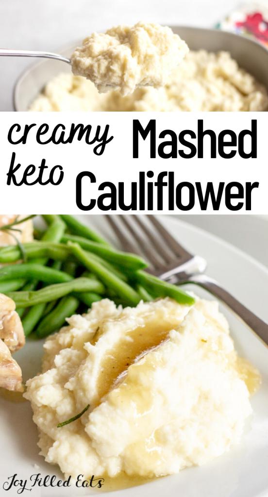 pinterest image for keto cauliflower mash